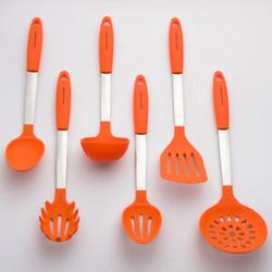 Orange Kitchen Utensils Set