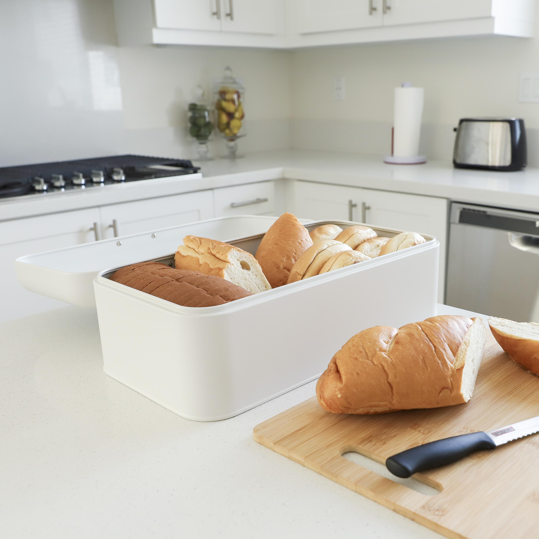 White Bread Box for Kitchen Counter