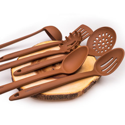 Brown Silicone Tools Set