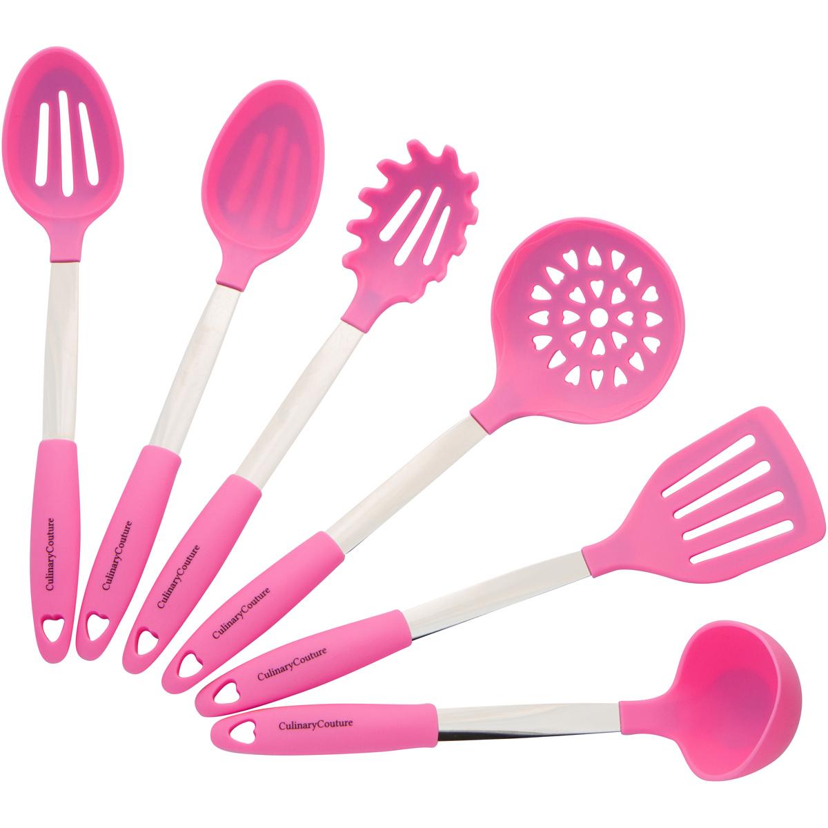 Pink Silicone Utensils