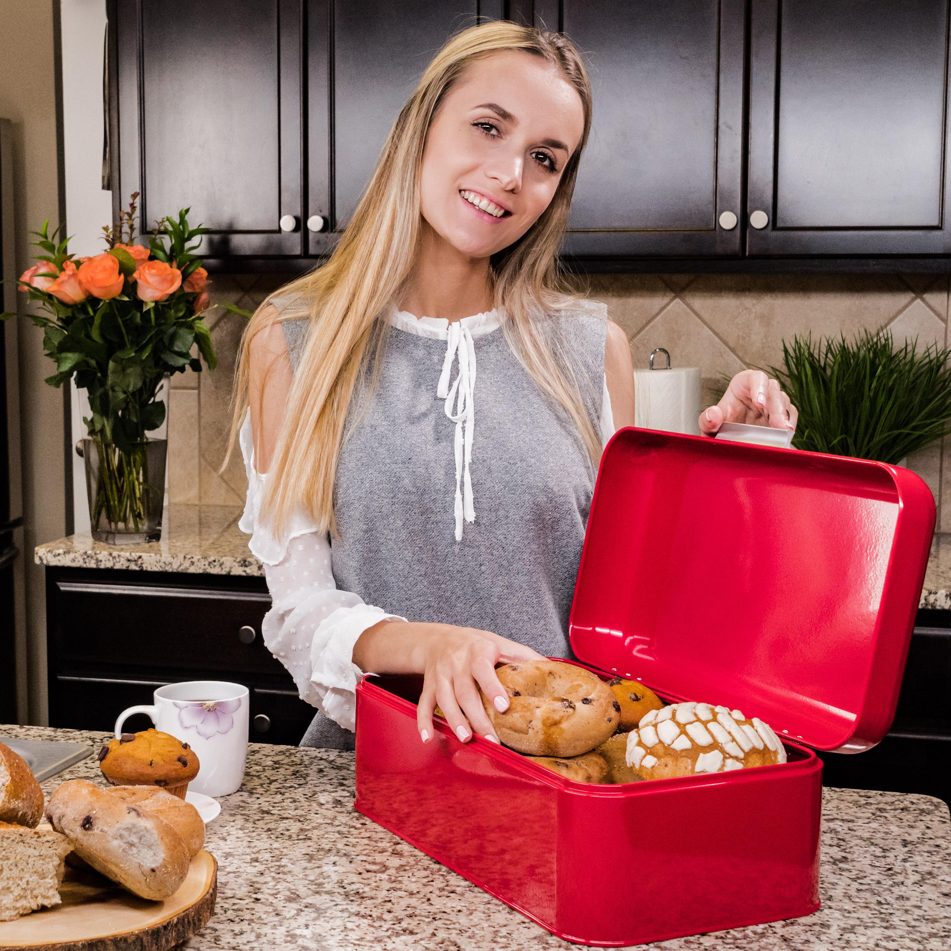 Red Breadbox kitchen