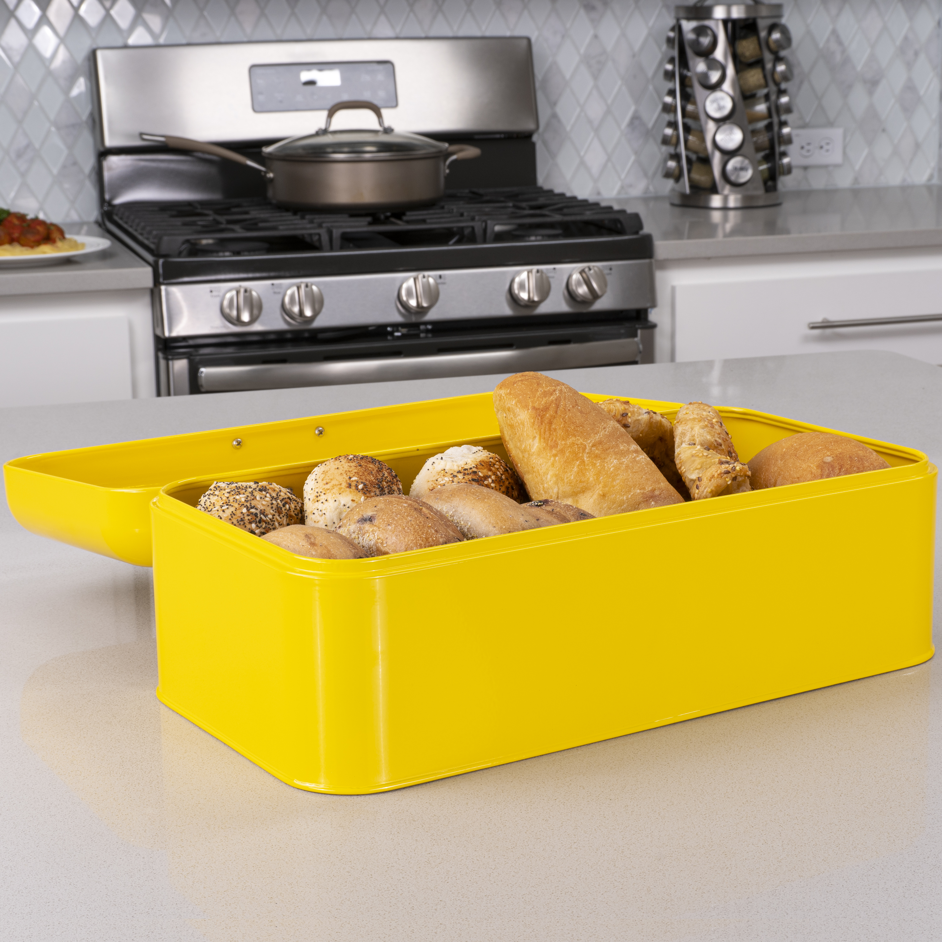 Yellow Bread Box for Kitchen