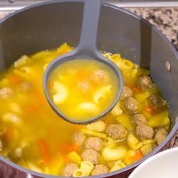 Grey Soup Ladle