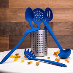 Blue Cooking Utensils