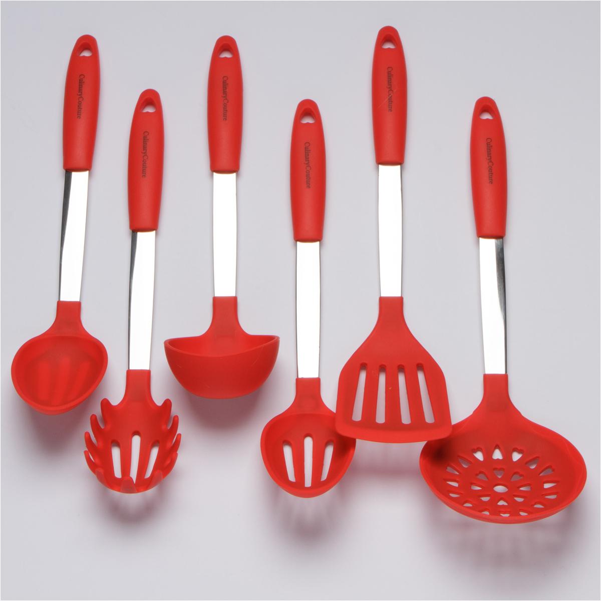 Red Kitchen Utensils Set