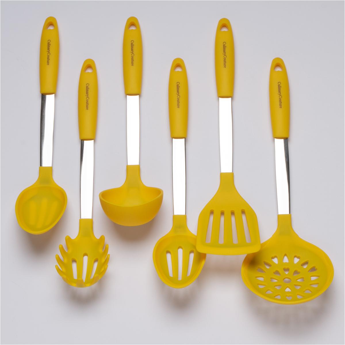 Yellow Kitchen Utensils Set