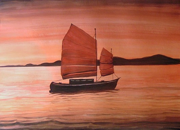 Red Sea with Chinese Boat