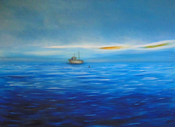 Seascape with Fishing Boat