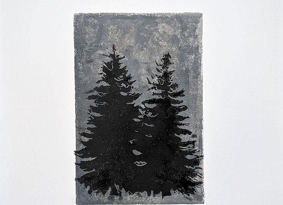 2 Black Fir Trees