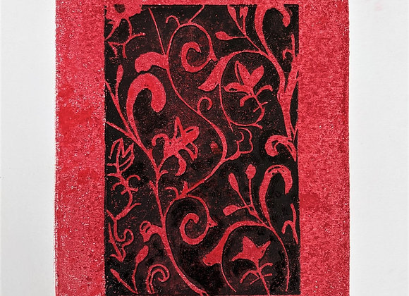 Arabesque in Red and Black