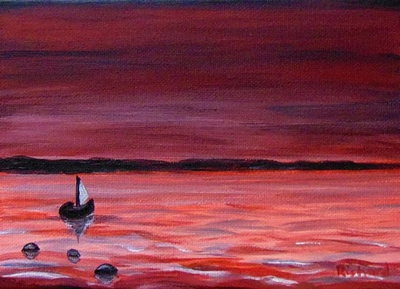 Red Sea and Sail Boat