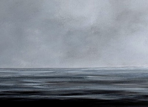 Black and Grey Seascape