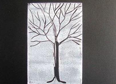 Black Tree on White