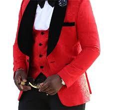 Veste rouge à motif