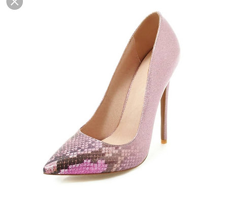 Pink Gitter shoes