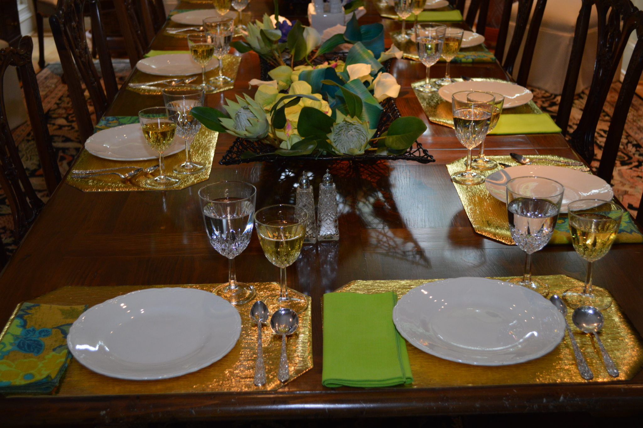Soup & Desert Table Setting