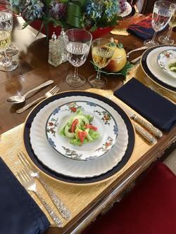 Salad Table Setting