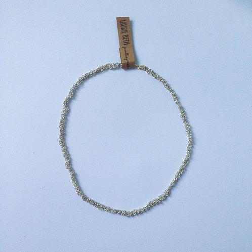 Silver Crochet Necklace