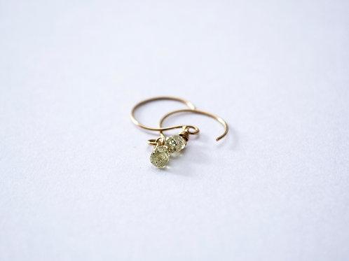 18ct Gold Briolette Diamond Earrings
