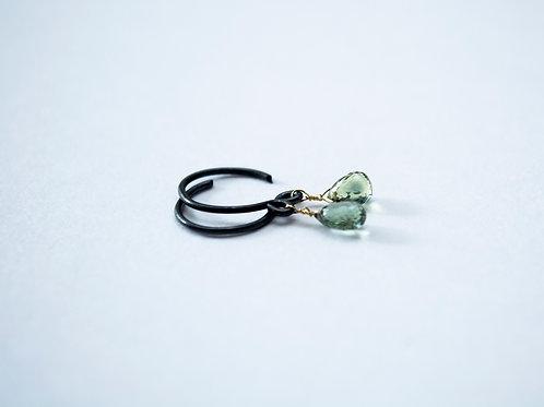 Sapphire briolette drop earrings