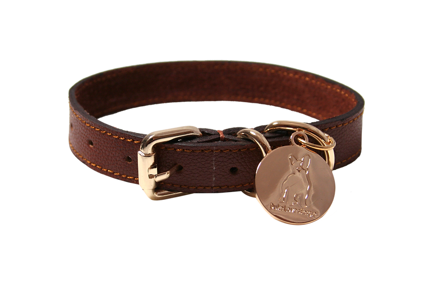 The City Collar - Rose Gold and Tan