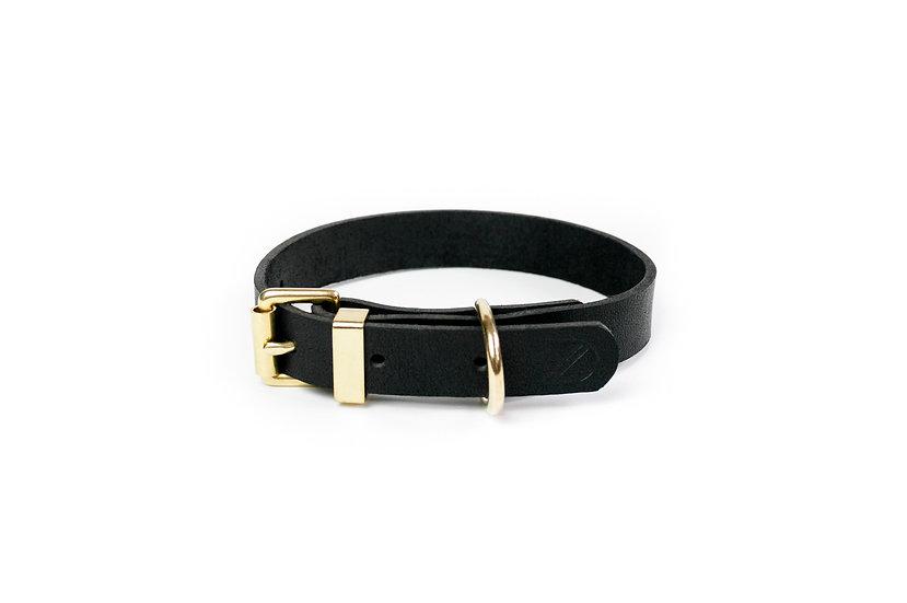 Classic Leather Collar Black