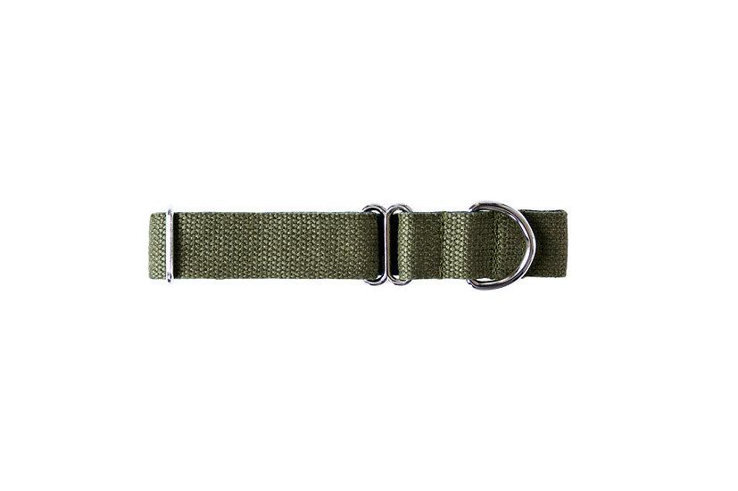 Tone Cotton Collar -Navy/Green