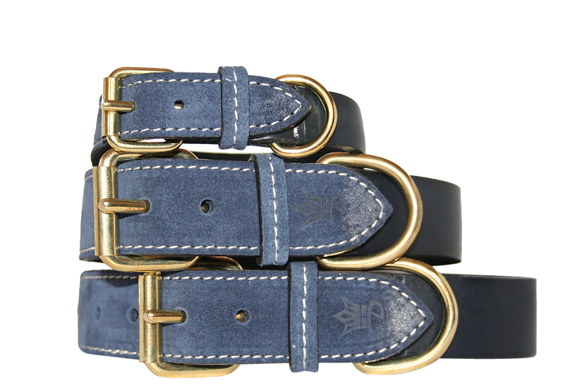 The Monogram Collar - Blue