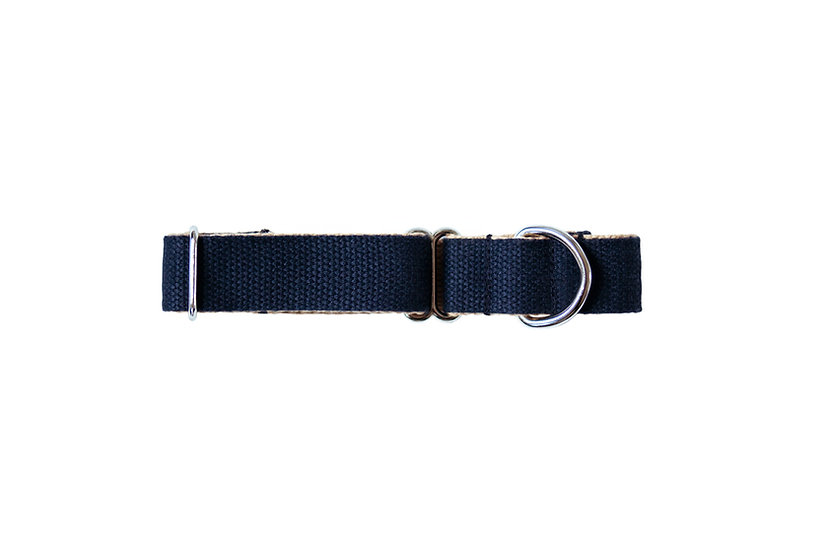 Two - Tone Cotton Collar - Navy / Camel