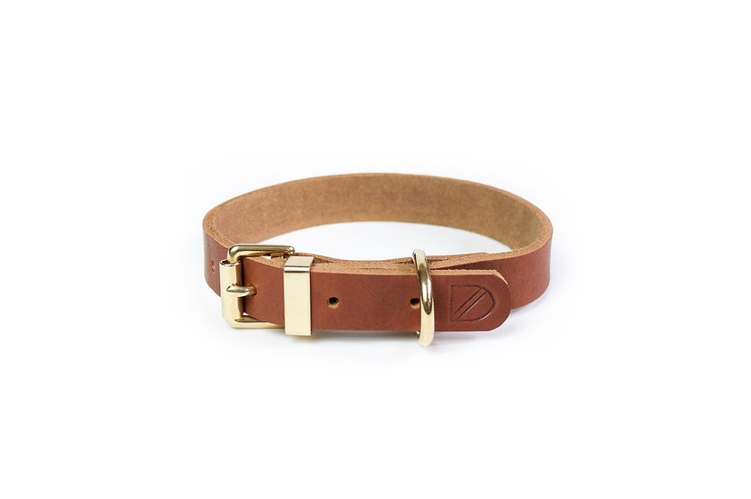Classic Leather Collar Tan