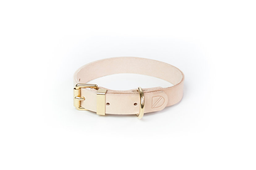 Classic Leather Collar Natural