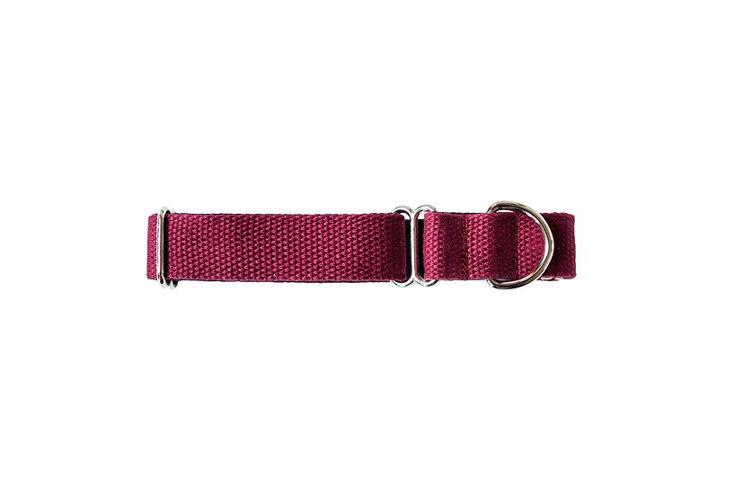 Tone Cotton Collar -Burgundy / Navy