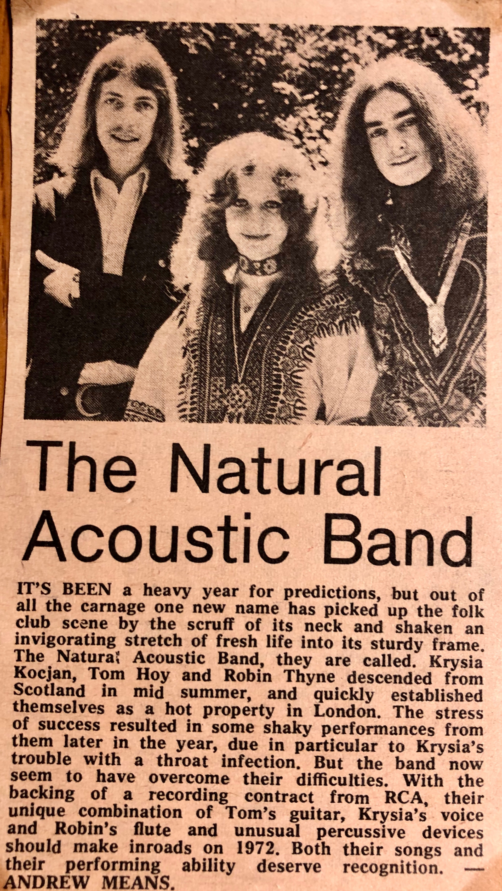 The Natural Acoustic Band