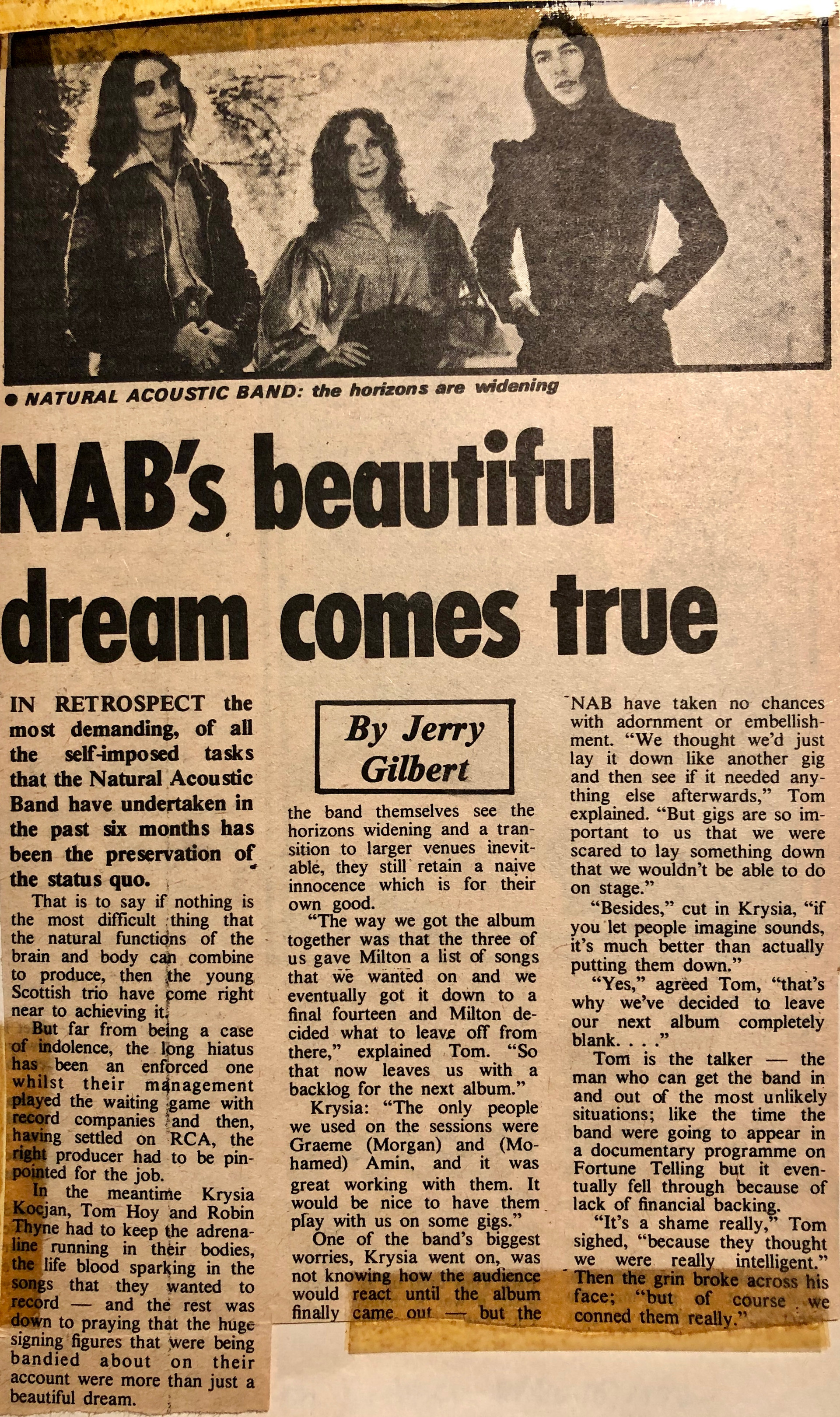 NABs beautiful dream comes true