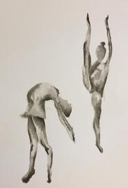 Dancers   Colored Pencils