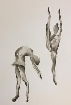 Dancers | Colored Pencils