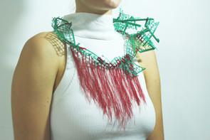 Necklace. plastic | cotton