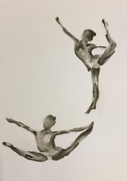 Dancers | Colored Pencils