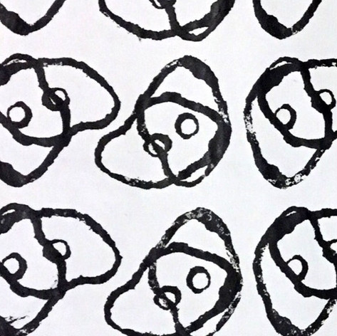 Mushroom. Stamp | Acrylic