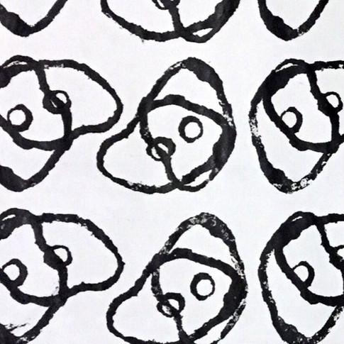Mushroom. Stamp   Acrylic