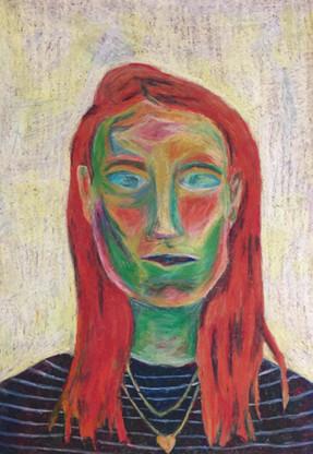 Self Portrait   Oil Pastels