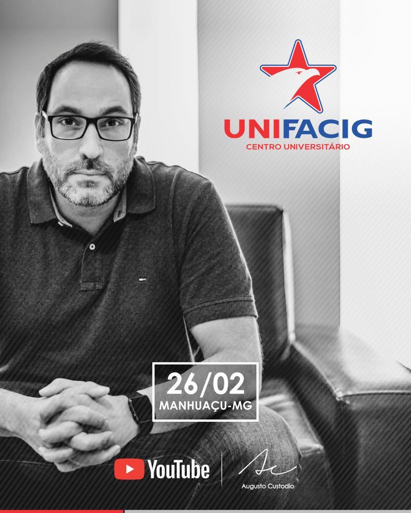 Augusto Custodio realizará palestra para estudantes de arquitetura, engenharia e marketing no UNIFAC