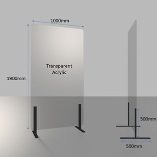 Self-standing Acrylic Shield with Metal Support