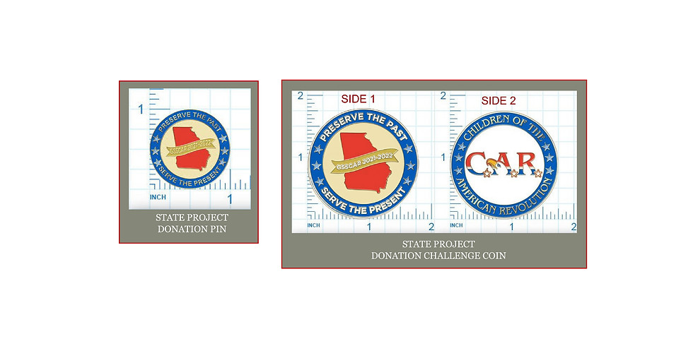 Donate ONLINE  & Receive Your Donation Pin and/or Challenge Coin by MAIL!