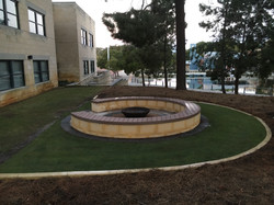 Curved compsoite decking