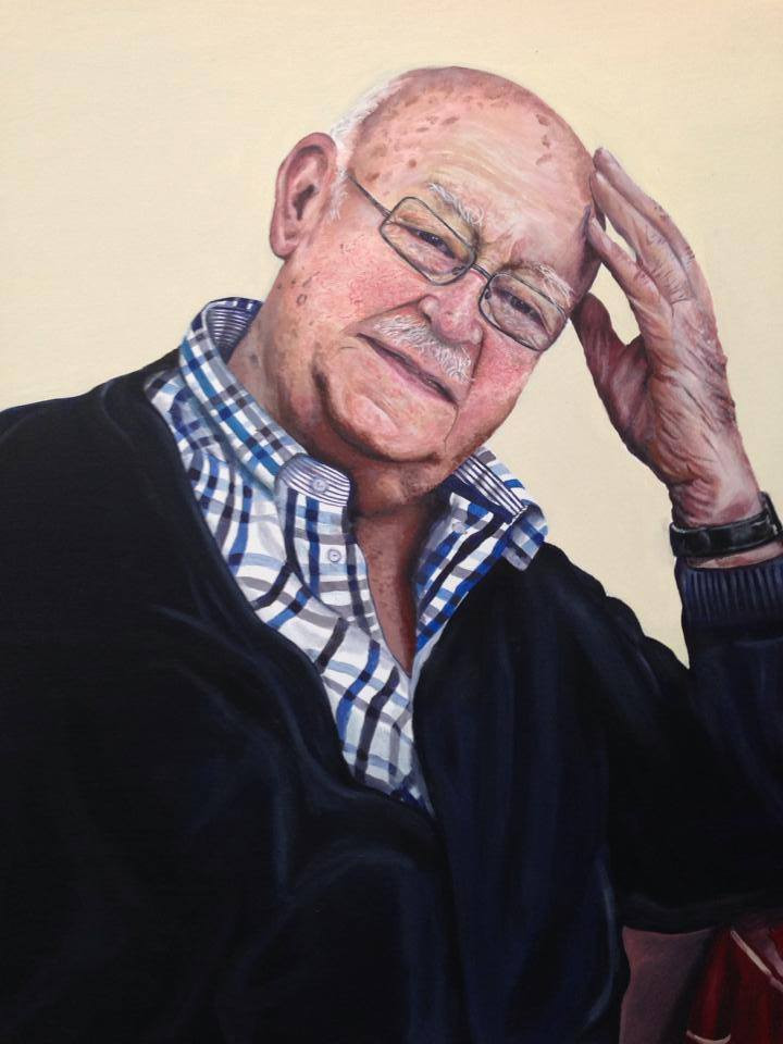 Acrylic on Canvas, my Neighbour Ken