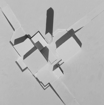 Errol Cemetery Massing Model, Plaster Cast, 200 x 500 mm, 2020