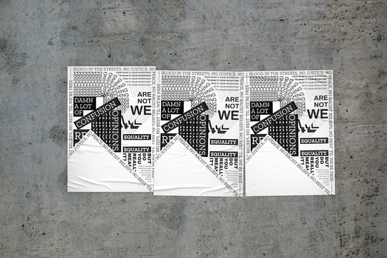'Cause We Are Not We' Poster