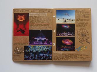 Burning Man Light Sculpture, Christopher Shardt
