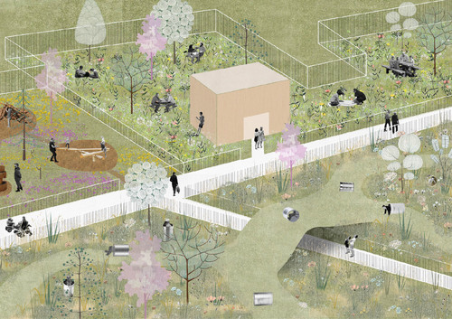 Look at the Rolling Mills play area, Digital Collage, 2020